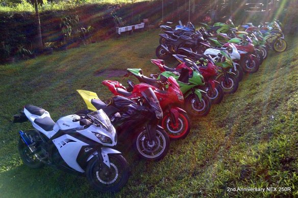 ada 25 Rider yg join acara ini. Sebagian lain membawa mobil terutama yang bareng keluarga