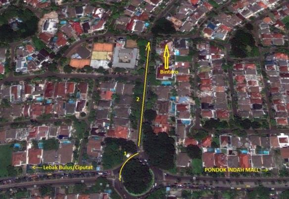 DAri arah Pondok Indah belok kanan ke Bintaro