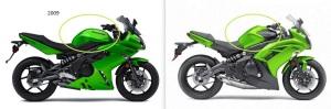 Desain tangki Ninja 650 edisi 2009 justru lebih sporty dan baik. Saat ini Tangki terlihat lebih jenong dan berpunuk.