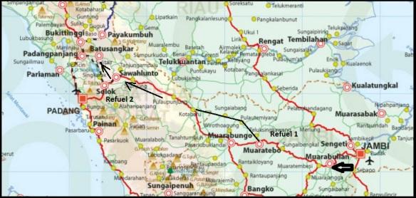 map Jambi Bukittinggi
