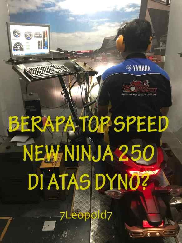 VIDEO] Berapa TOP SPEED New Ninja 250 Di Atas Dyno Sebelum